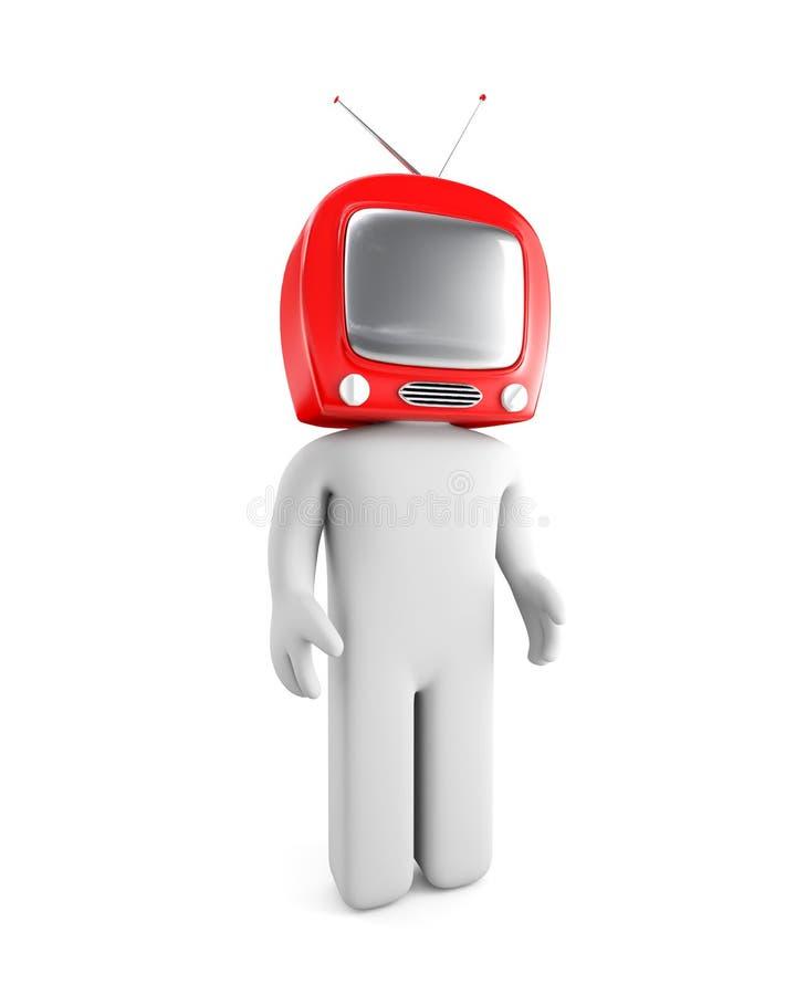 Testa della TV illustrazione vettoriale