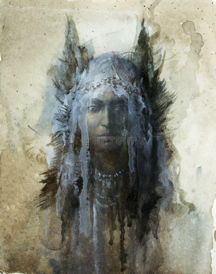 Testa dello sciamano royalty illustrazione gratis