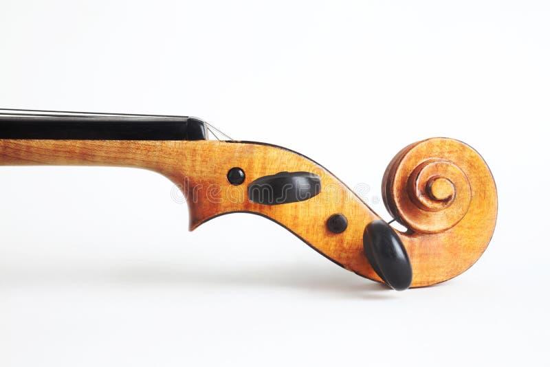 Testa dello strumento musicale del violino fotografia stock libera da diritti