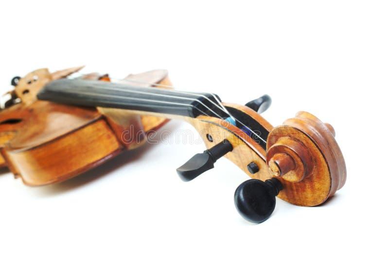 Testa dello strumento musicale del violino fotografie stock