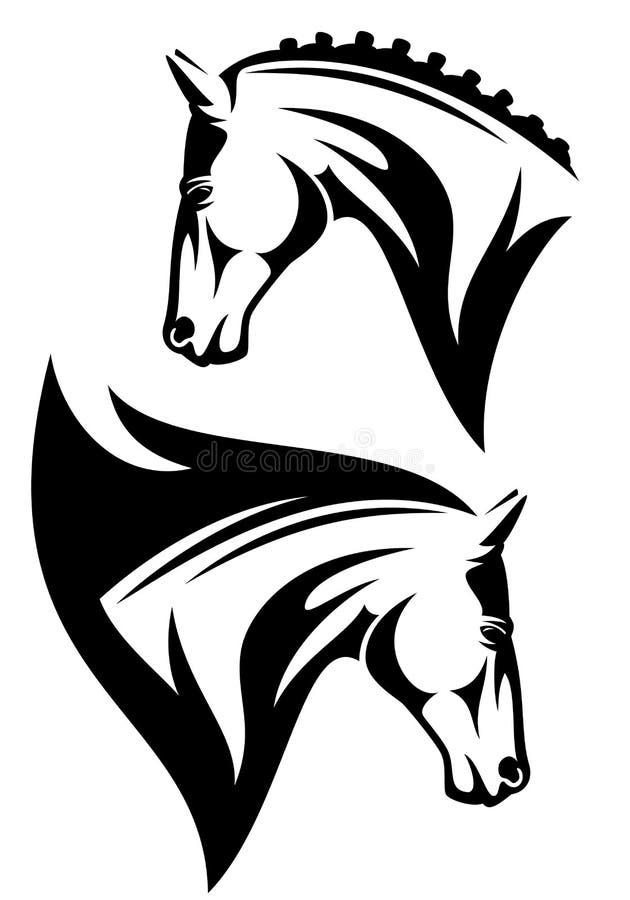 Testa di cavallo illustrazione vettoriale