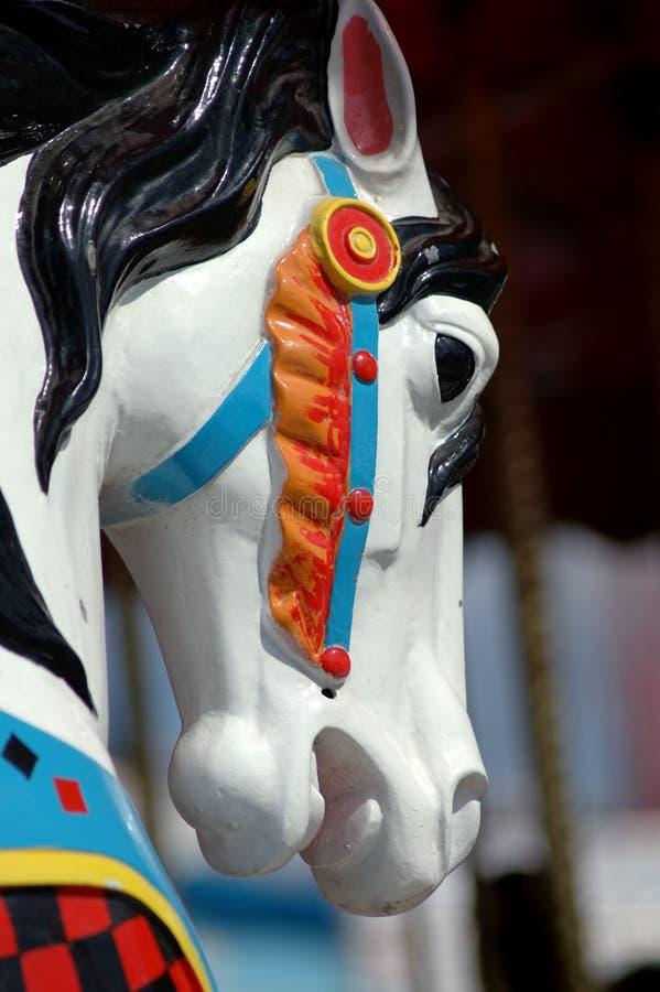 Testa di cavallo del carosello immagini stock