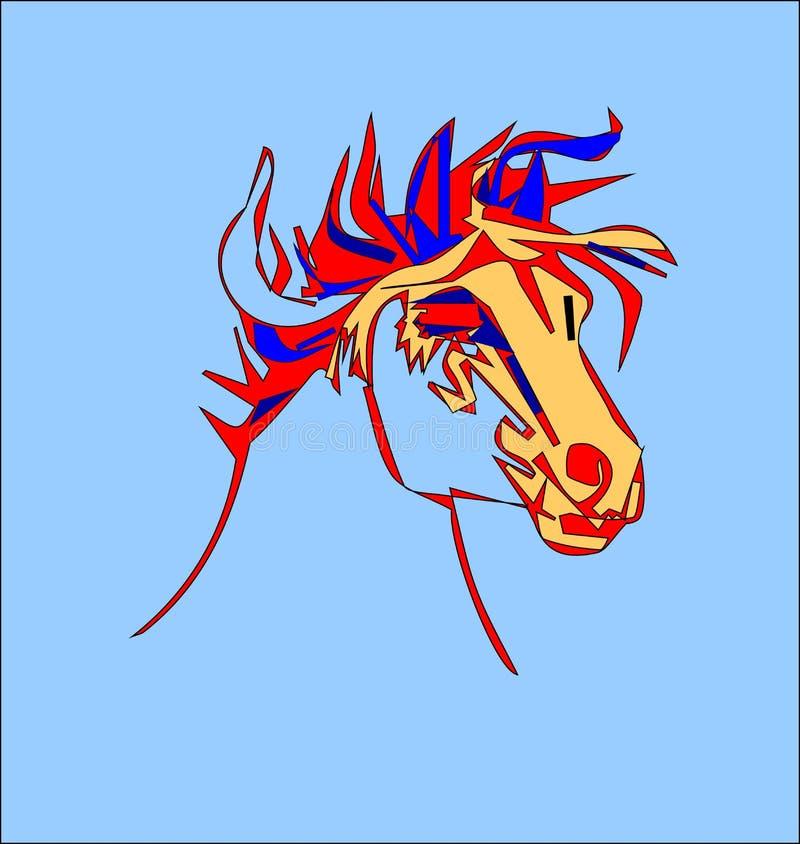 Testa di cavallo stilizzata su un fondo bianco for Immagini cavalli stilizzati