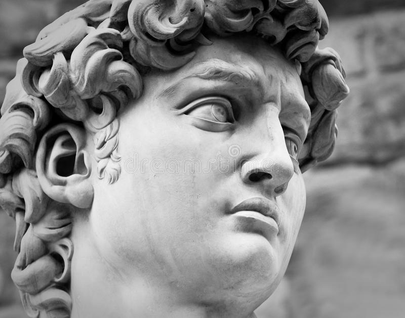 Testa di David del Michelangelo fotografia stock libera da diritti