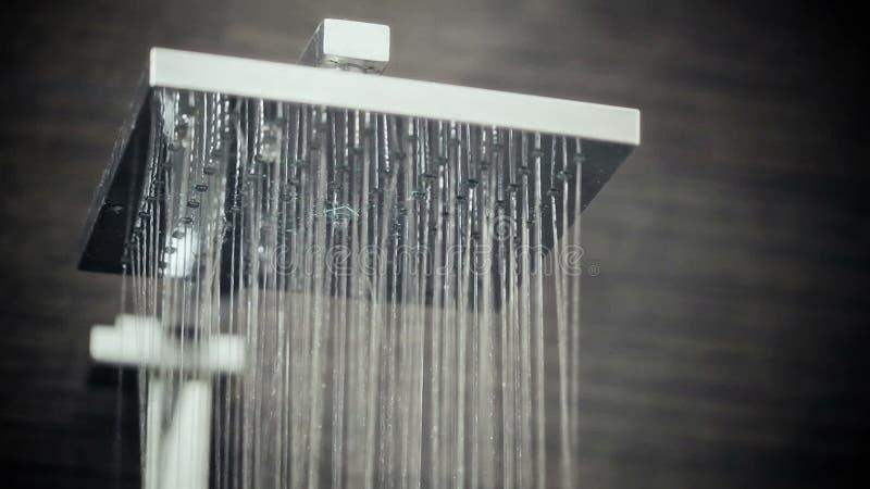 Testa di doccia in sgocciolatura del bagno archivi video