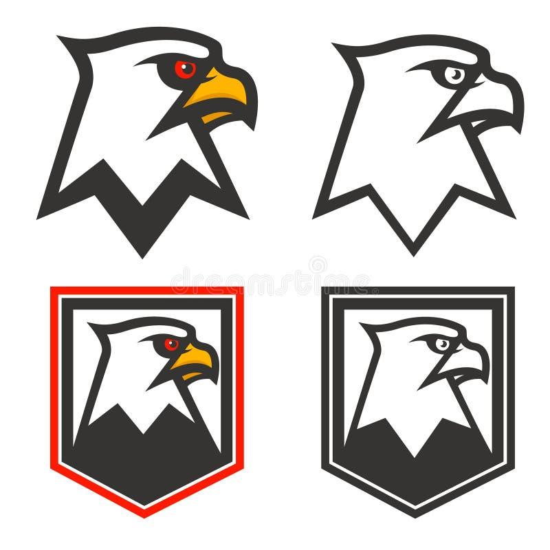 Testa di Eagle su fondo dallo schermo Elemento di progettazione per il logo, l illustrazione vettoriale