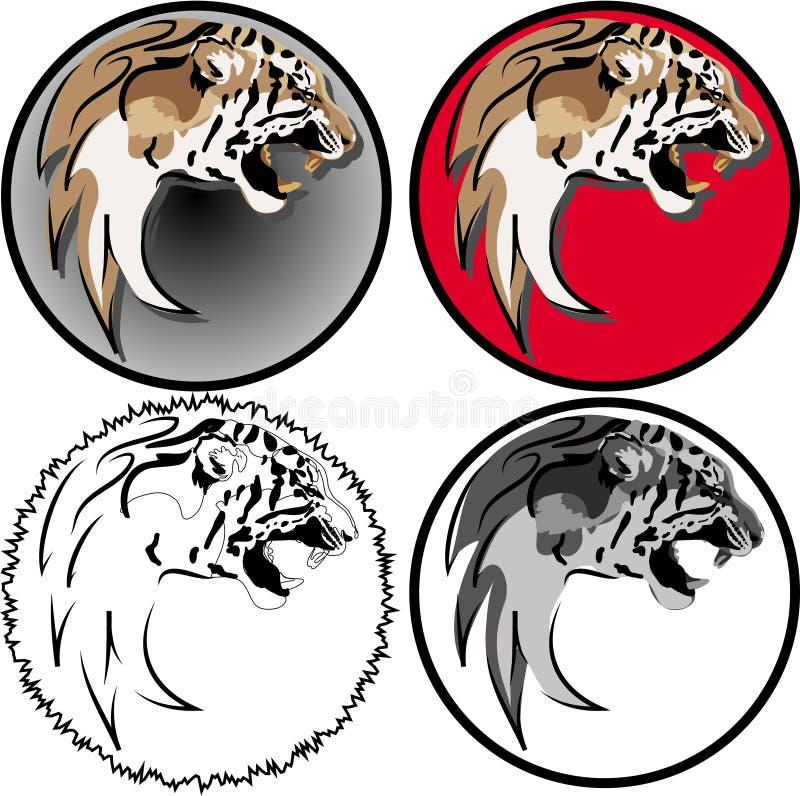 Testa di Lione nell'interpretazione 4 illustrazione vettoriale