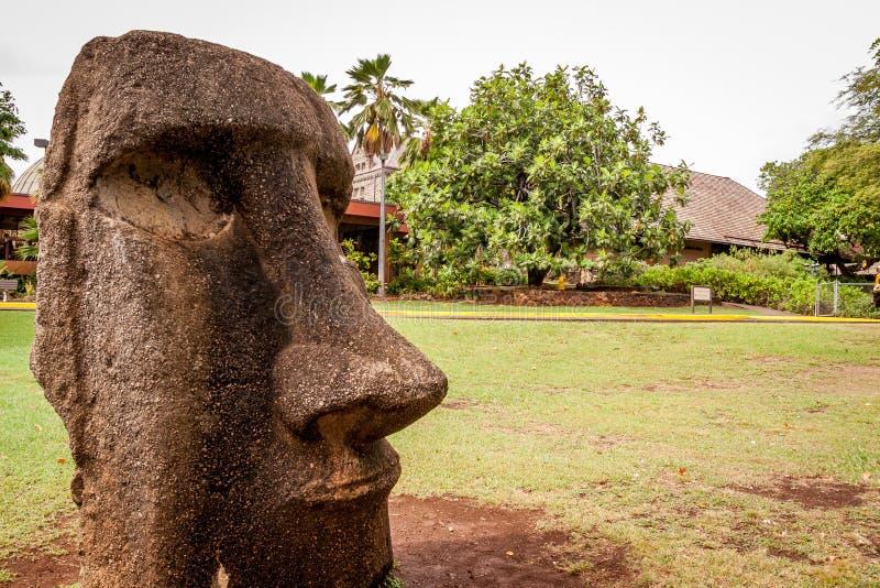 Testa di Moai dall'isola di pasqua fotografia stock