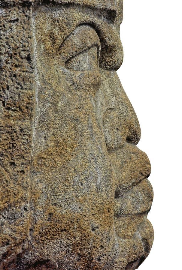 Testa di Olmec immagine stock libera da diritti