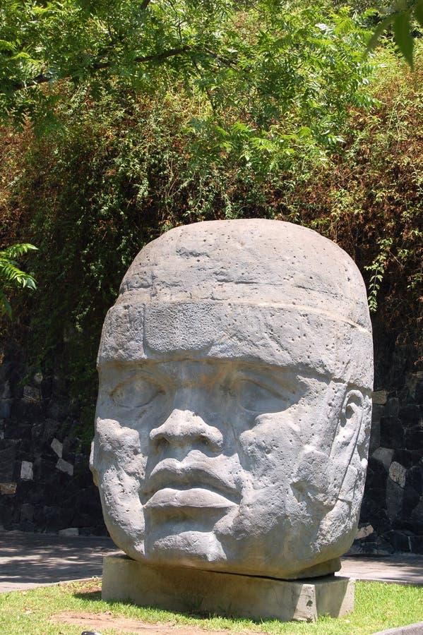 Testa di Olmec fotografie stock libere da diritti