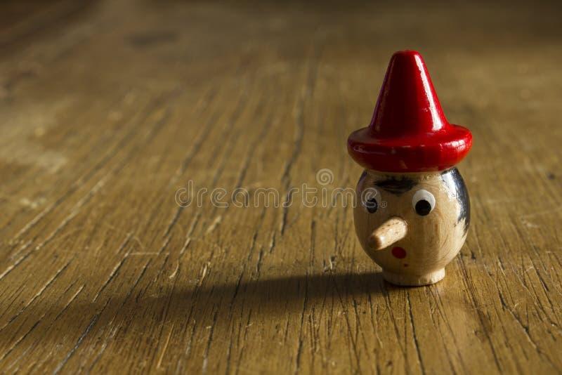 Testa di Pinocchio immagine stock libera da diritti