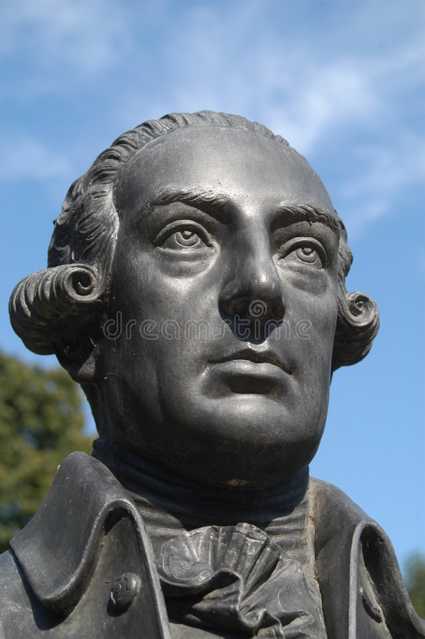 Testa di una statua fotografia stock