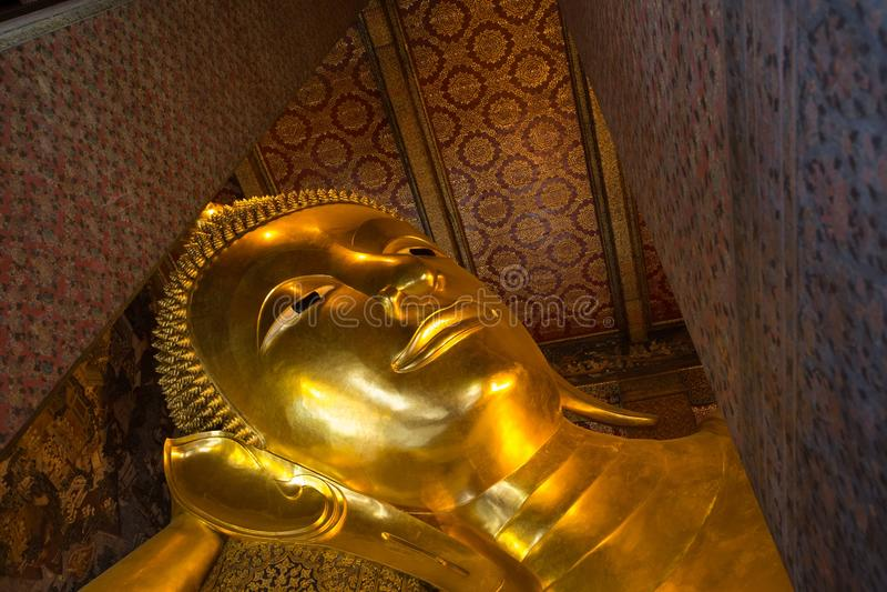 Testa dorata di Buddha immagine stock libera da diritti