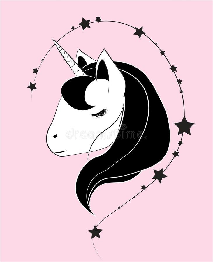 Testa fantastica dell'unicorno royalty illustrazione gratis