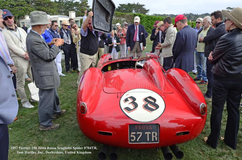 Testa Ferraris 250 Spinne 1957 Rossa Scaglietti 0704TR stockfoto