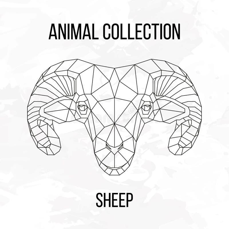 Testa geometrica delle pecore royalty illustrazione gratis