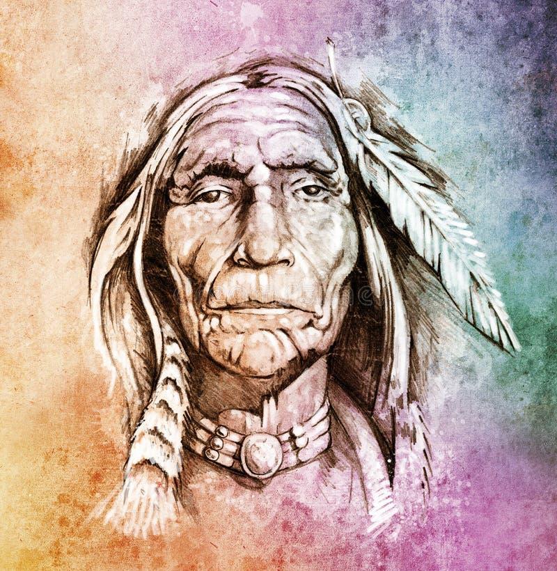 Testa indiana americana fotografia stock
