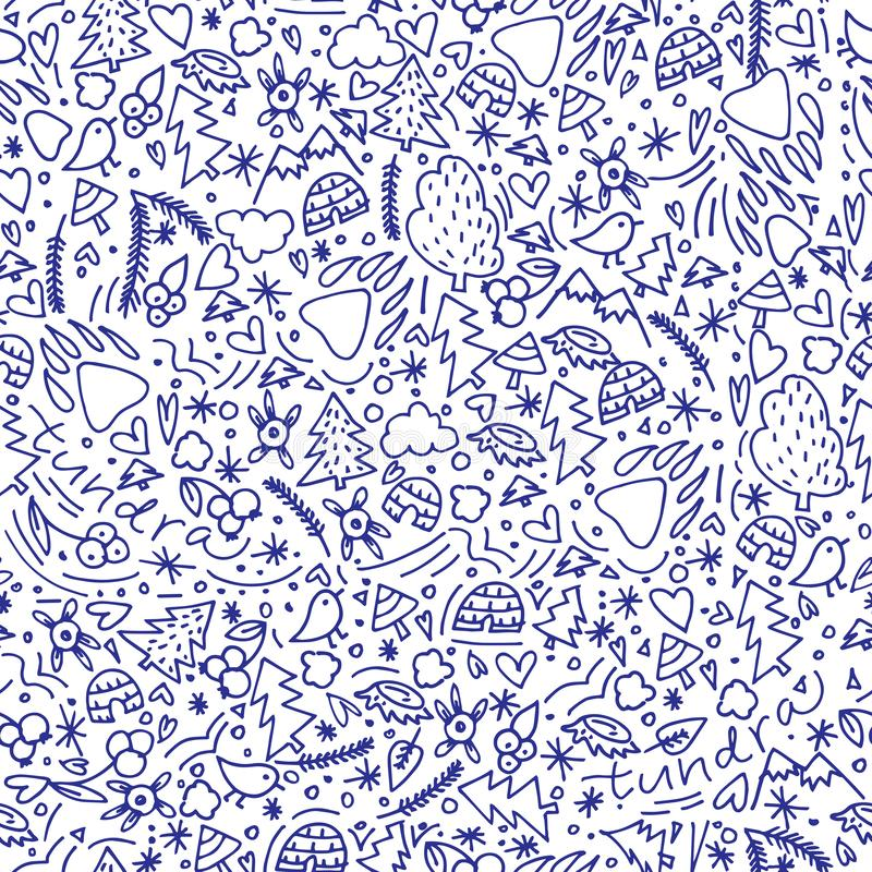 Testa modellata geometrica della tigre, illustrazione disegnata a mano illustrazione di stock