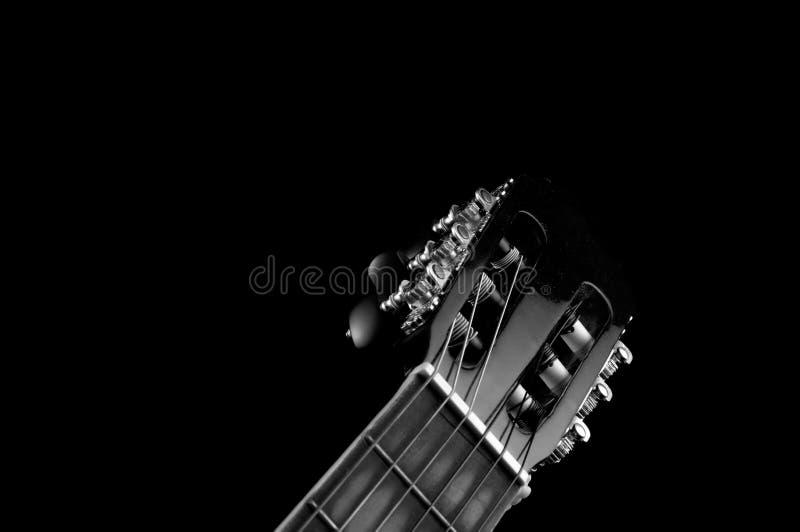 Testa motrice classica monocromatica della chitarra immagine stock