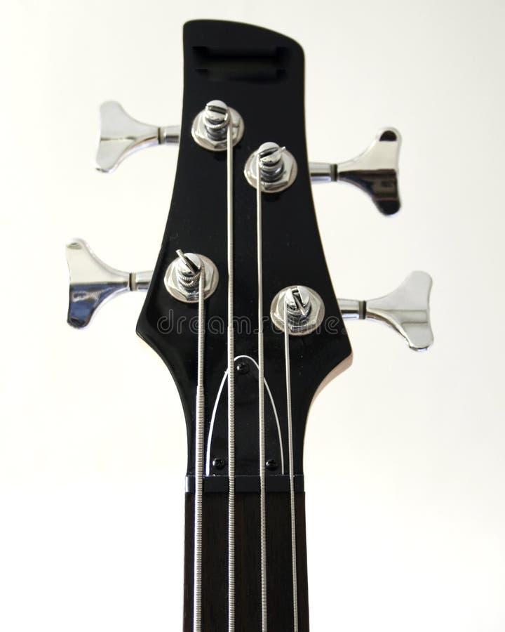 Testa motrice della chitarra bassa fotografia stock