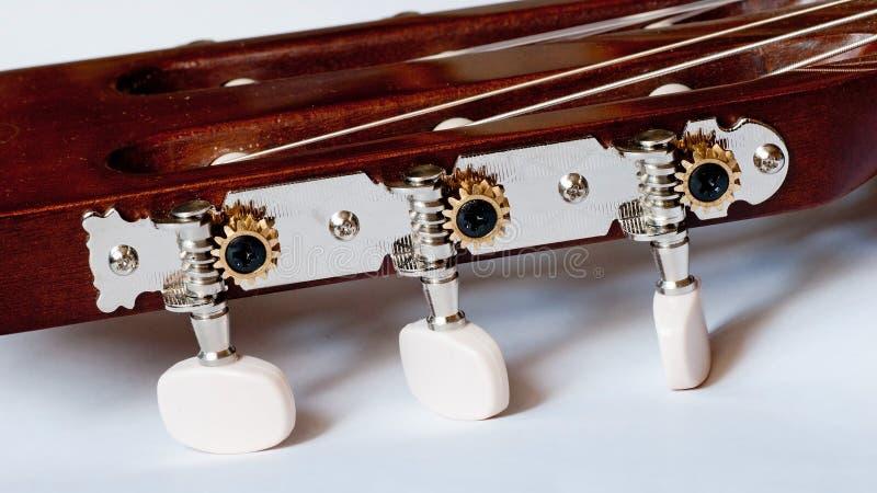 Testa motrice della fine classica della chitarra su fotografie stock