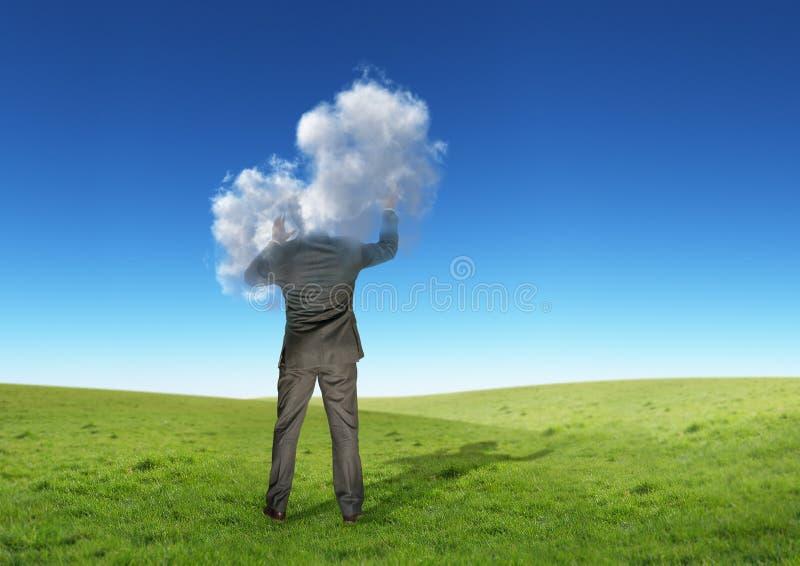 Testa nelle nubi fotografia stock libera da diritti