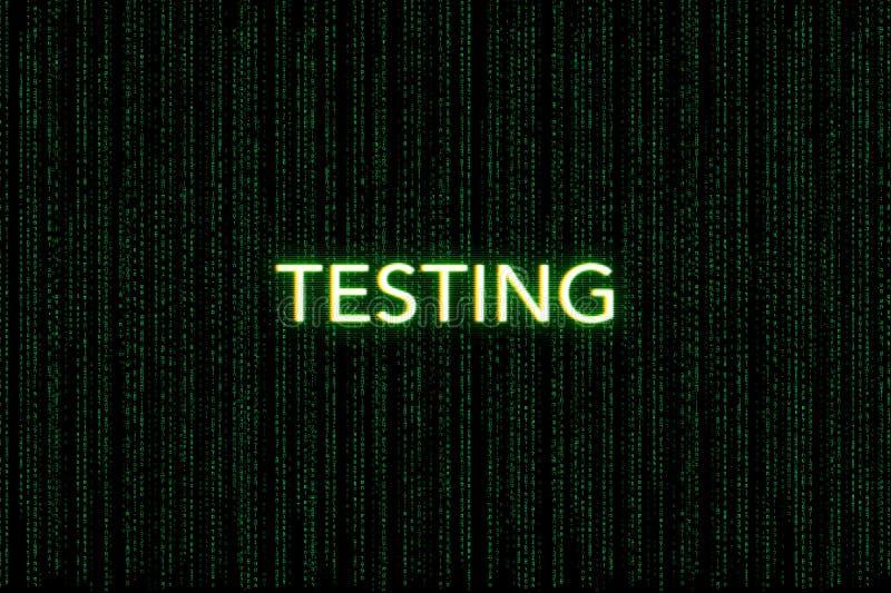 Testa nyckelord av klungan, på en grön matrisbakgrund royaltyfria foton