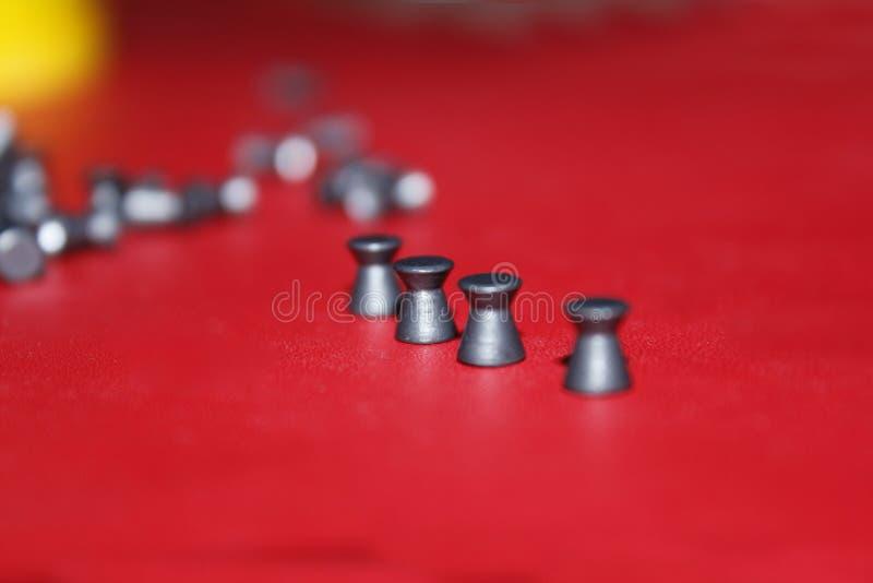 Testa piatta della pallina del fucile ad aria compressa fotografia stock