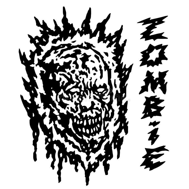 Testa terrificante del demone Illustrazione di vettore illustrazione vettoriale