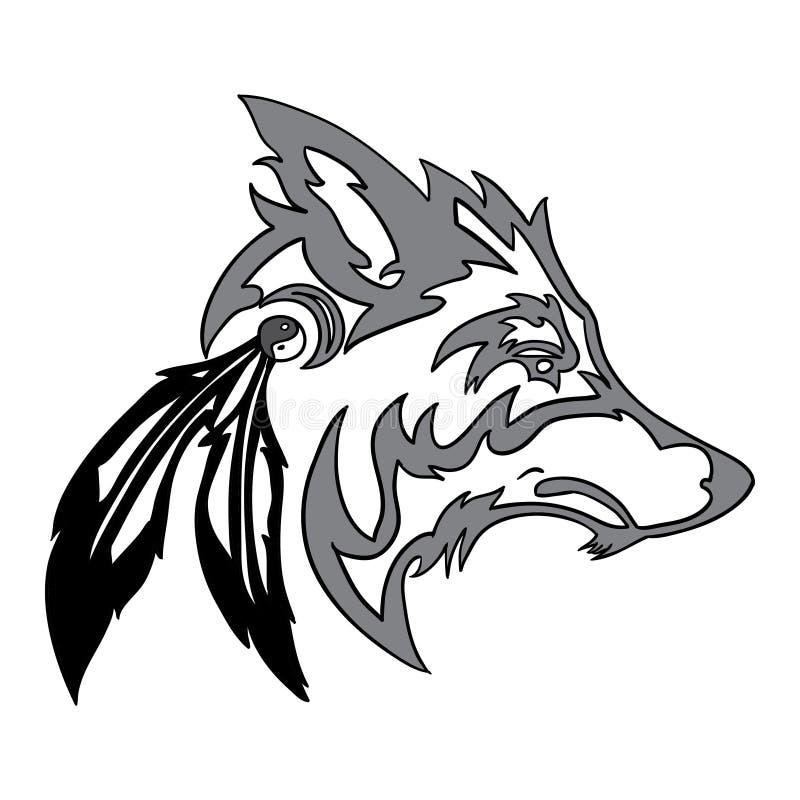 Testa tribale del lupo royalty illustrazione gratis
