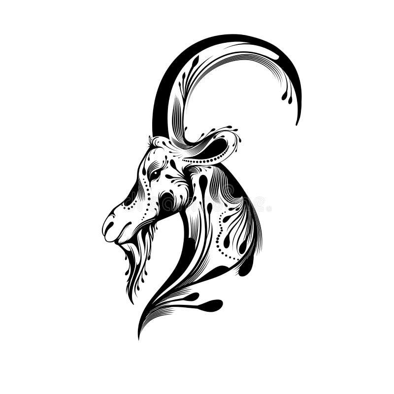 Testa tribale della capra royalty illustrazione gratis
