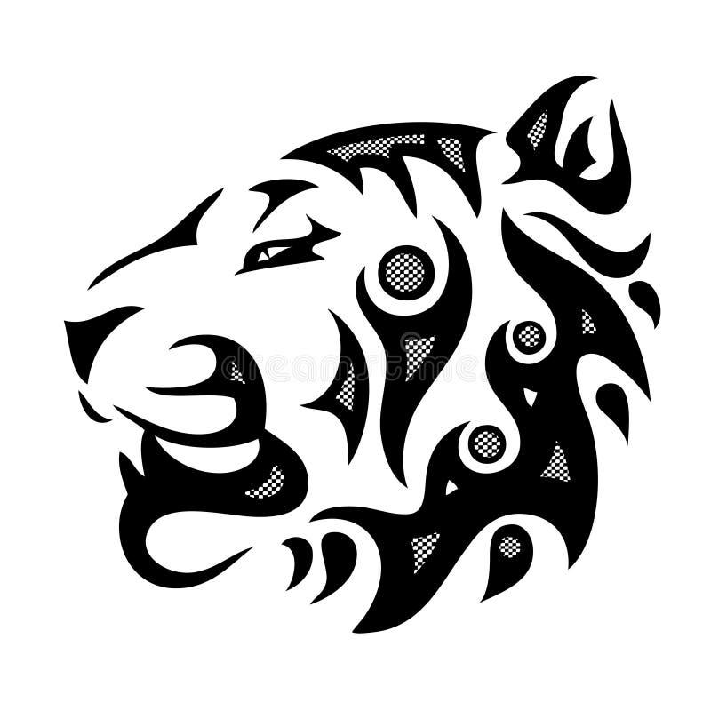 Testa tribale della tigre illustrazione di stock