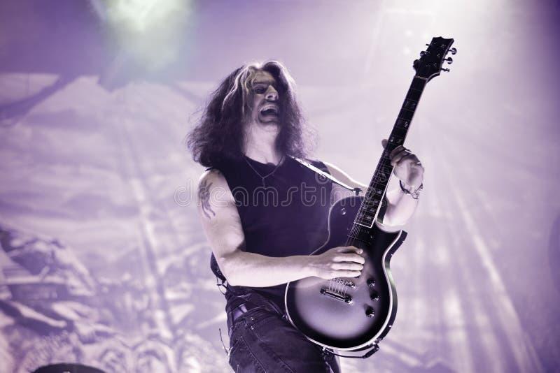 Testamentet bor i skurkroll för konsert 2016 besegrar metallmusikbandet arkivbilder