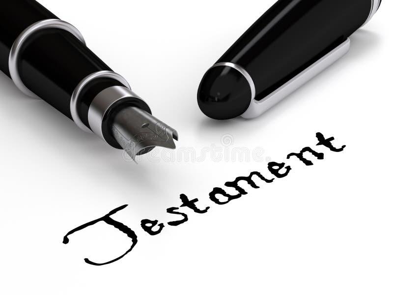 Testamento ilustração do vetor