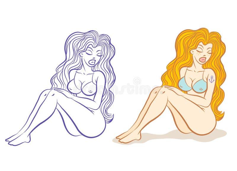 Testarossa royalty illustrazione gratis