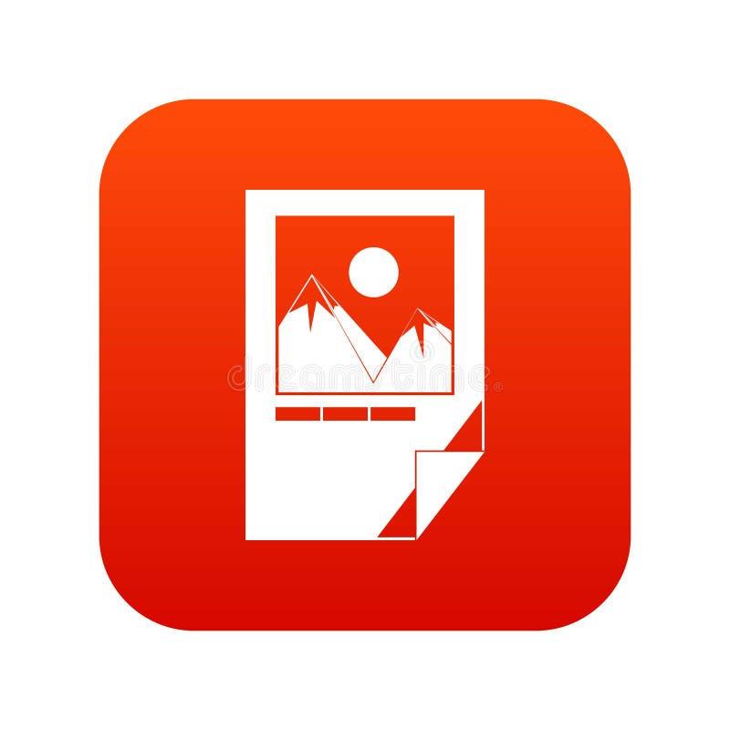 Testat färgpulverpapper med rött för symbol för skrivarfläckar digitalt royaltyfri illustrationer