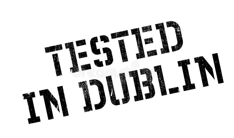 Testat i Dublin den rubber stämpeln stock illustrationer