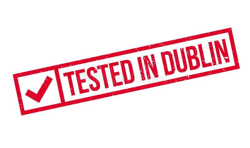 Testat i Dublin den rubber stämpeln royaltyfri illustrationer