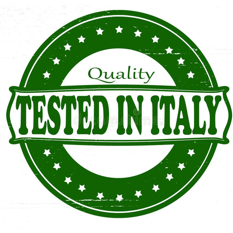 Testat i Italien stock illustrationer