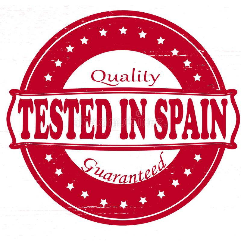 Testat i Spanien royaltyfri illustrationer