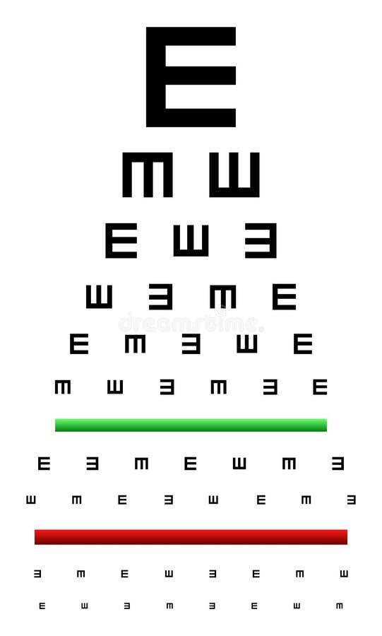 Teste da carta de olho ilustração do vetor