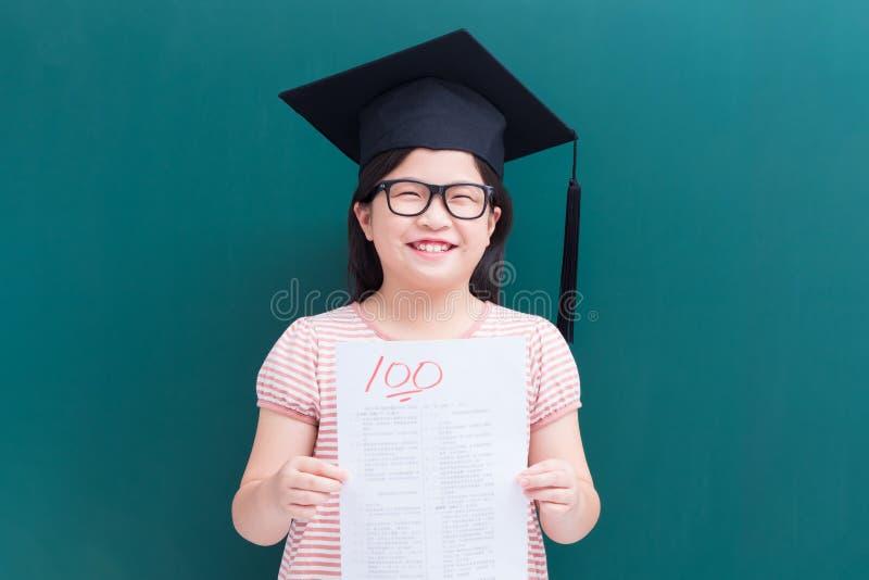 Teste da menina com contagem completa imagens de stock