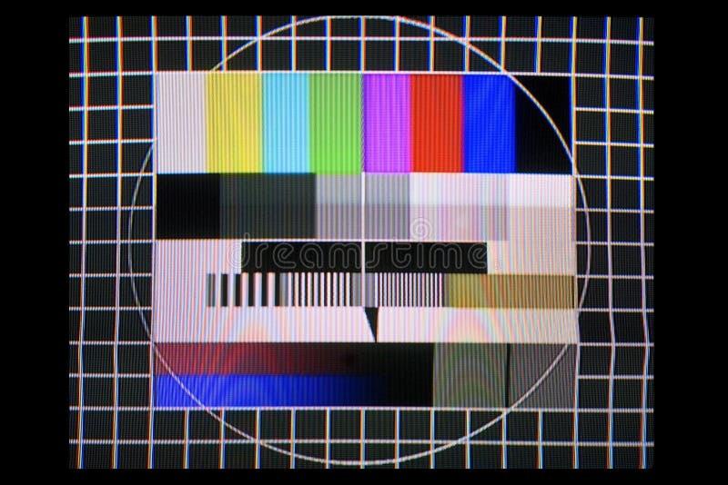 Teste da tevê imagem de stock