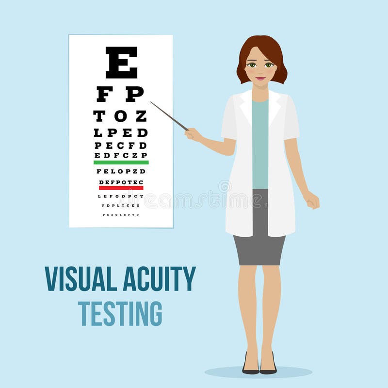 Teste da visão do olho ilustração royalty free