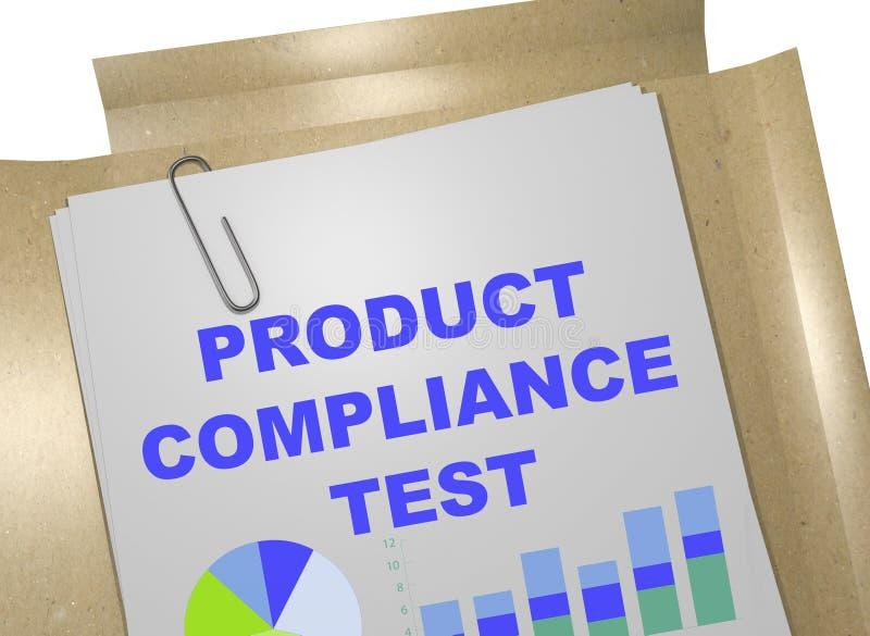 Teste de conformidade do produto - conceito do negócio ilustração do vetor