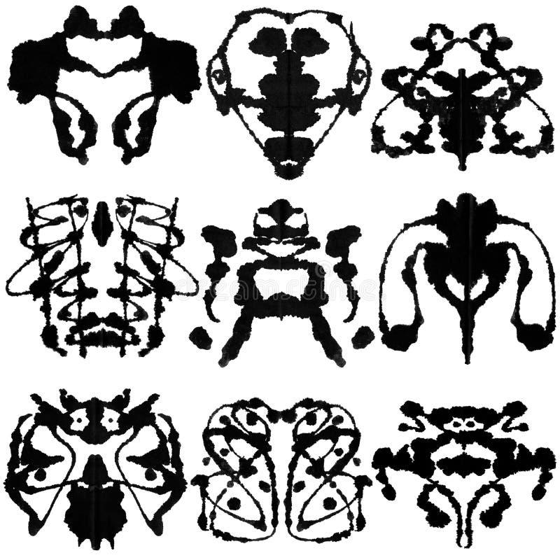 Teste de nove Rorschach ilustração stock