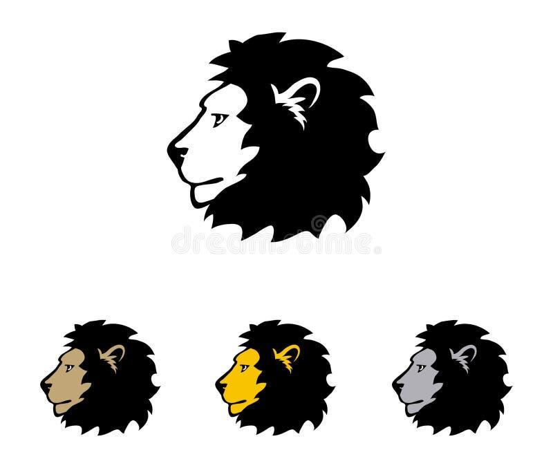 Teste dei leoni illustrazione di stock