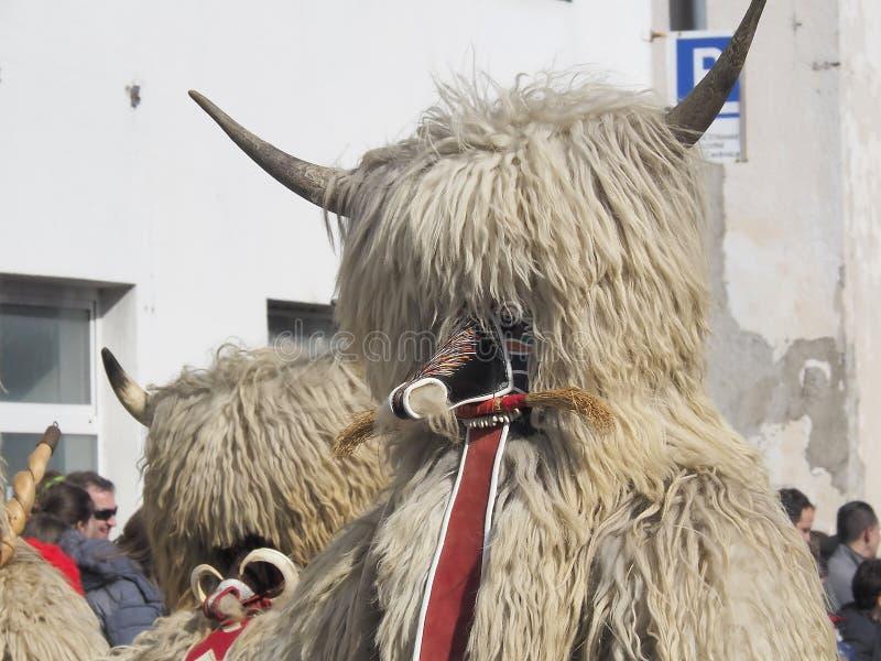 Teste del costume di Kurent fotografia stock libera da diritti