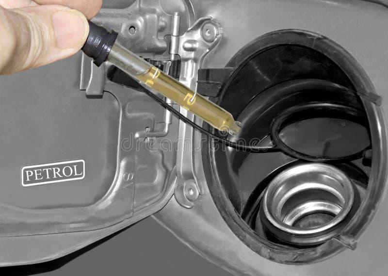 Teste do combustível imagens de stock