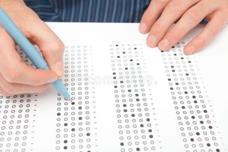Teste do estudante (exame) imagens de stock royalty free